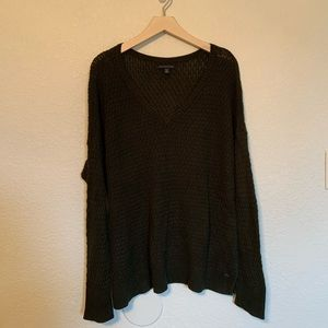 American Eagle dark green/black knit sweater